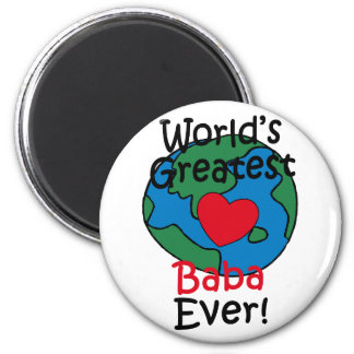 World's Greatest Baba Heart 6 Cm Round Magnet