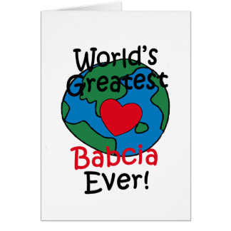 World's Greatest Babcia Heart Greeting Cards