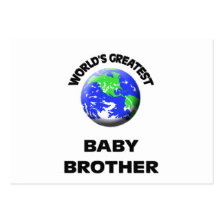 World s Greatest Baby Brother Business Cards
