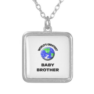 World s Greatest Baby Brother Necklace