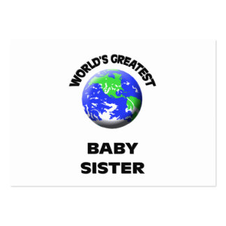 World s Greatest Baby Sister Business Card Template