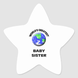 World s Greatest Baby Sister Star Stickers