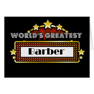 World s Greatest Barber Greeting Cards