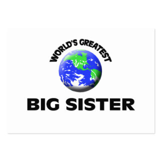 World s Greatest Big Sister Business Card Templates
