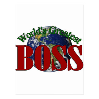 World s Greatest Boss Postcards