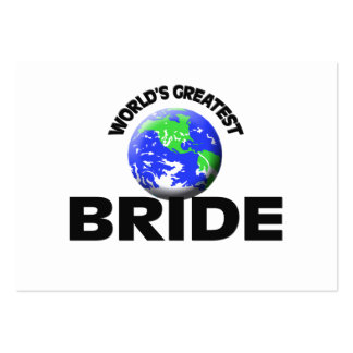 World s Greatest Bride Business Card