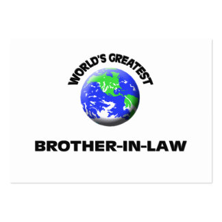 World s Greatest Brother-In-Law Business Card Template