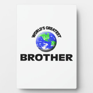 World s Greatest Brother Photo Plaque