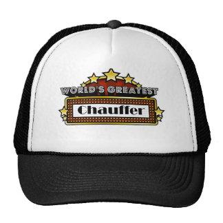 World s Greatest Chauffer Trucker Hat