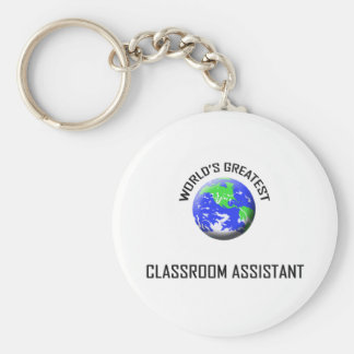 World s Greatest Classroom Assistant Keychains