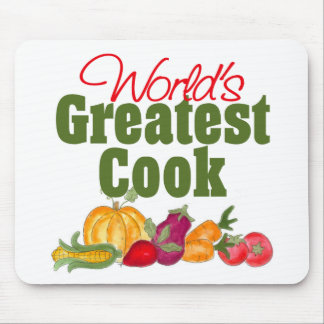 World s Greatest Cook Gift Mouse Pad