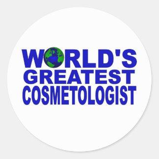 World s Greatest Cosmetologist Round Sticker