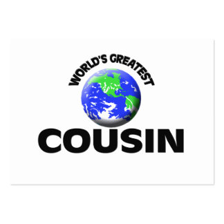 World s Greatest Cousin Business Card Template