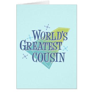 World s Greatest Cousin Card