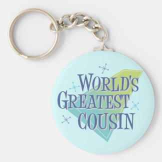 World s Greatest Cousin Keychains