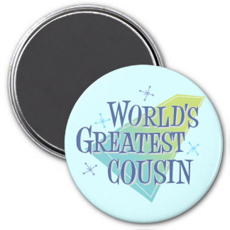 World s Greatest Cousin Refrigerator Magnets