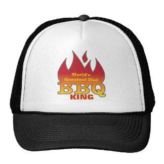 World s Greatest Dad BBQ KING Trucker Hats