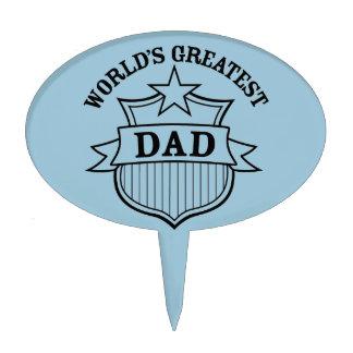 "world""s greatest dad design cake topper"