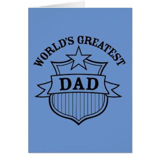 "world""s greatest dad design greeting card"