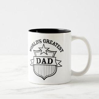 "world""s greatest dad design Two-Tone mug"