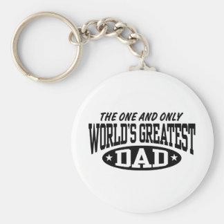 World s Greatest Dad Keychains