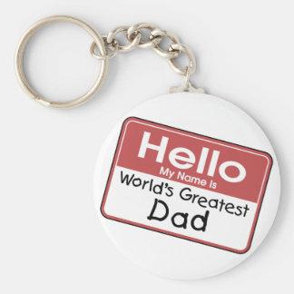 World s Greatest Dad Keychain