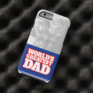 World s greatest Dad personalize photo iphone case