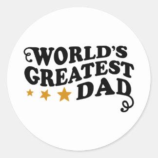 World s Greatest Dad Stickers