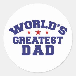 World s Greatest Dad Sticker
