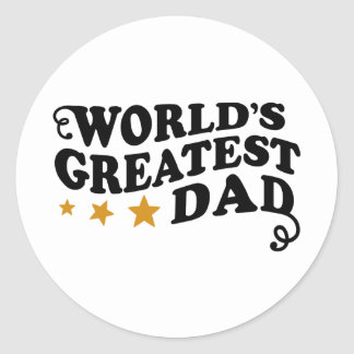 World s Greatest Dad Stickers