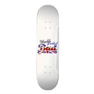 World s Greatest Dad with English flag Custom Skateboard