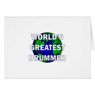 World s Greatest Drummer Card
