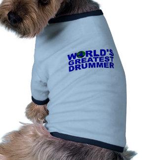 World s Greatest Drummer Doggie Tee Shirt
