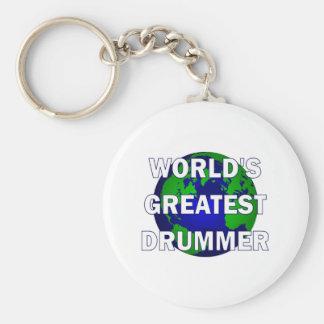 World s Greatest Drummer Keychain