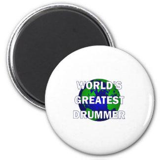 World s Greatest Drummer Fridge Magnets