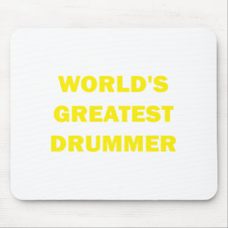 World s Greatest Drummer Mouse Pads