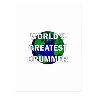World s Greatest Drummer Postcard
