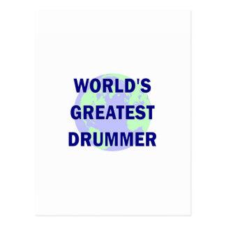 World s Greatest Drummer Post Card
