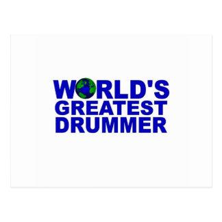 World s Greatest Drummer Postcards