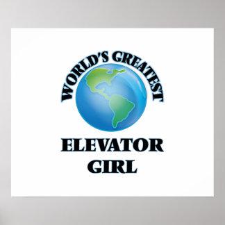 World s Greatest Elevator Girl Print
