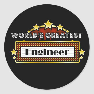 World s Greatest Engineer Round Sticker