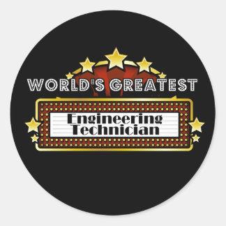World s Greatest Engineering Technician Round Sticker