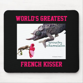 World s Greatest French Kisser Mousepad