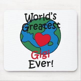World's Greatest Gigi Heart Mouse Pad