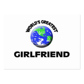 World s Greatest Girlfriend Business Card Template