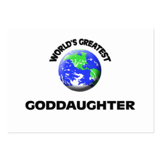 World s Greatest Goddaughter Business Cards