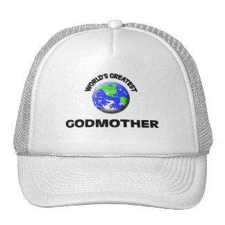 World s Greatest Godmother Mesh Hats
