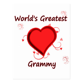 World s Greatest grammy Post Card