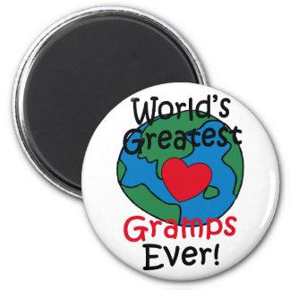 World's Greatest Gramps Heart Fridge Magnets