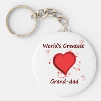 World s Greatest grand-dad Keychain